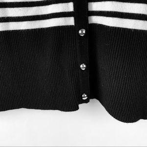 White House Black Market Sweaters - WHITE BLACK MARKET WHBM Striped soft cardigan